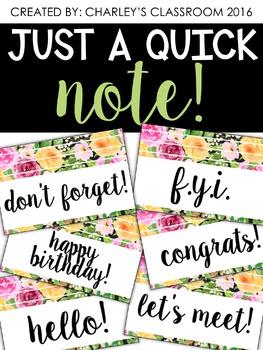 Just a Quick Note | Florals