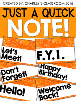 Just a Quick Note | Notes & Scribbles