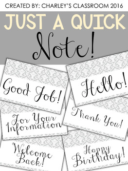 Just a Quick Note | Pretty & Simple