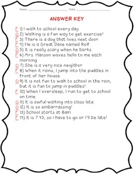 Just a Walk to School: Fact and Opinion