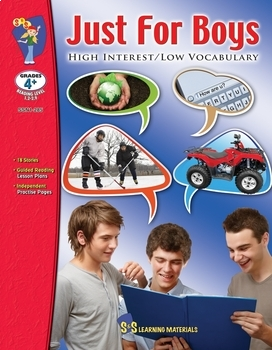 Just for Boys High Interest/Low Vocabulary Reading (Enhanced eBook)