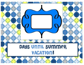 Just for fun - Countdown to Summer Vacation Posters