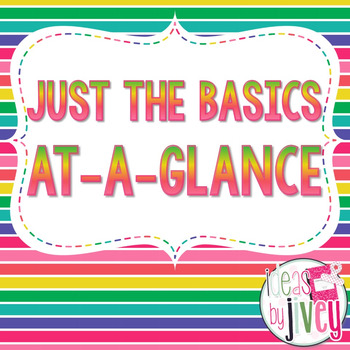 Just the Basics At-A-Glance (Mentor Sentences & Better Than Basal)