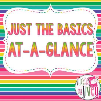 Just the Basics At-A-Glance (Mentor Sentences & Better Tha