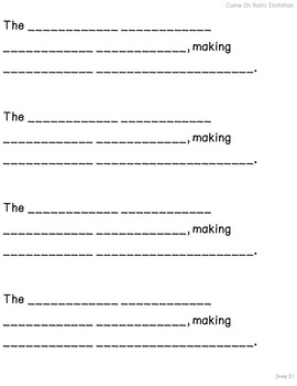 Just the Basics Grades 3-5 Mentor Sentences Modifications ADD-ON Pack
