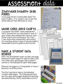 Just the Data Binder - for Preschool, Pre-K, and Kindergarten