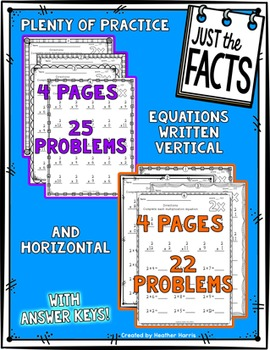 Just the Facts- 5s Multiplication Tables