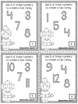Just the Facts...Fact Families Task Card/Scoot