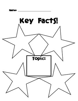 """""""Just the Facts"""" Graphic Organizers"""