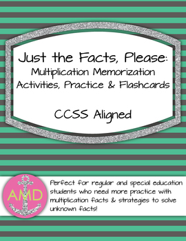 Just the Facts- Multiplication Fact Cards (Flashcards) 3rd and 4th Math