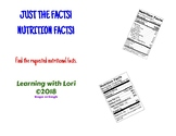 Just the Facts! Nutrition Facts!