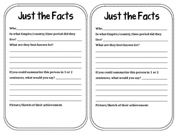 Just the Facts - People Edition