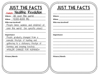 Just the Facts - Event Edition