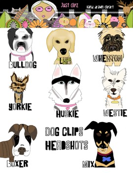 Dog Head Shot clip art