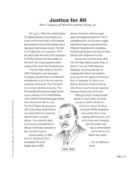 Justice for All: The Legacy of Martin Luther King, Jr. (Lexile 1060)