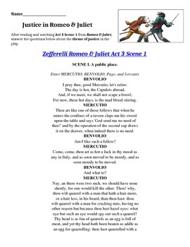 Justice in Romeo & Juliet