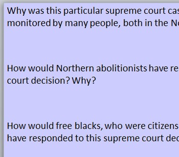 Justice in the 1850s - Dred Scott and John Brown