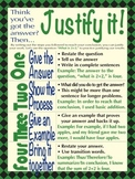 Justify It - Write the answer to math questions, poster, P