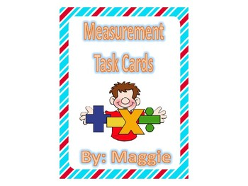 Measurement Task Cards - Feet and Inches