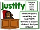 Justifying in Math:  Poster and Student Notebook Pages