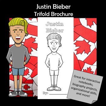 Justin Bieber Biography Trifold Brochure