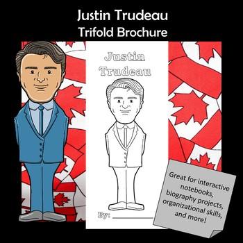 Justin Trudeau Biography Trifold Brochure