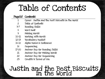 Justin and the Best Biscuits in the World  4th Grade Harcourt Storytown Lesson 7