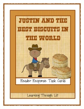 Justin And The Best Biscuits In The World Discussion Cards Tpt