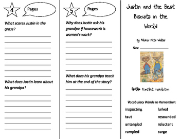 Justin & the Best Biscuits in the World Trifold - Storytown 4th Grade Unit 2 W 2