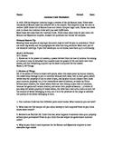 Justinian's Code Worksheet, Handout.   History 101