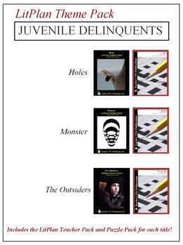 Juvenile Delinquents Novel Unit Theme Pack Bundle