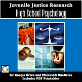 Psychology Activities (Sociology): Juvenile Justice Research (Social Justice)