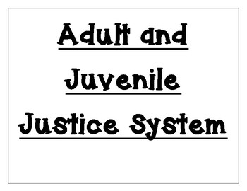 Juvenile Justice System Word Wall