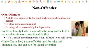 Juvenile Law Notes for Law Enforcement I