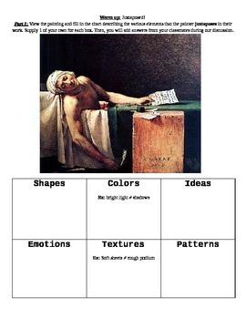 Juxtapose This! Art and literature analysis activity of juxtaposition
