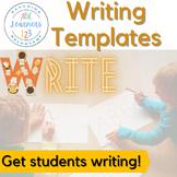 K, 1, & 2 Writing frames