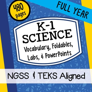 K-1 ALL YEAR Interactive Notebook Science Doodles Bundle