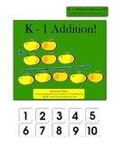 K-1 Addition! File Folder Game (adding using manipulatives)