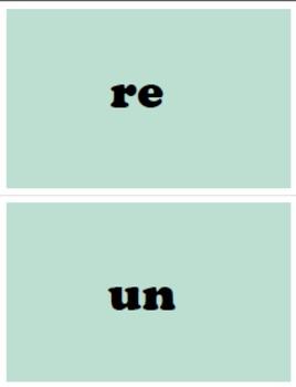 K-1 Base, Prefix & Suffix Cards