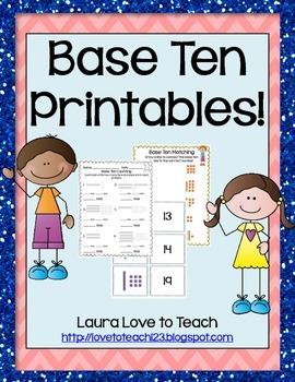 K-1 Base Ten Printables