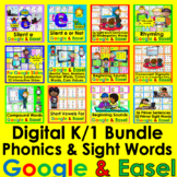 K/1 Digital Bundle Google Slides Rhyming Phonics Sight Wor