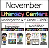 K-1 COMBO November Literacy Centers