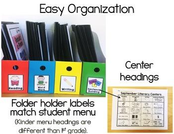 K-1 November Literacy Centers