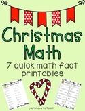 K-1 Christmas Themed Math Fact Printables