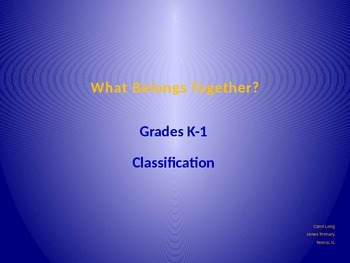 K-1 Classification PPT
