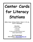 K-1 Classroom Center Cards for Pocket Chart