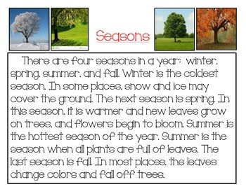 K-1 Clos Reading: Seasons