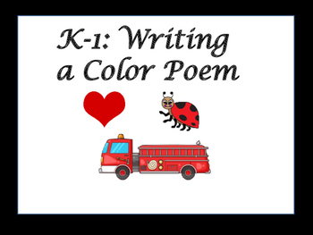 Kindergarten to First Grade Literacy Center: Color Poem