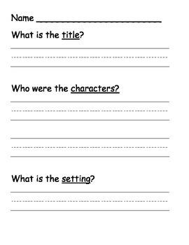 K-1 Comprehension Packet - Reading Comprehension Center