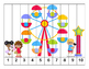 K-1 Counting Puzzles- Counting by 1's, 2's, 5's, and 10's-Carnival Theme